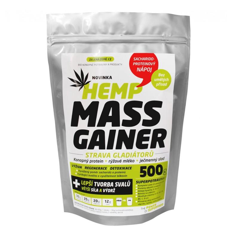 Napój konopny wysokoproteinowy fitness. Hemp Mass Gainer. Bio 500g