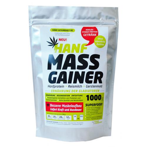 Hemp Mass Gainer. Napój konopny wysokoproteinowy fitness. Bio 1kg