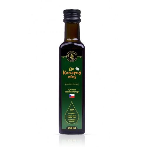 Ekologiczny olej z nasion konopi tłoczony na zimno 250 ml