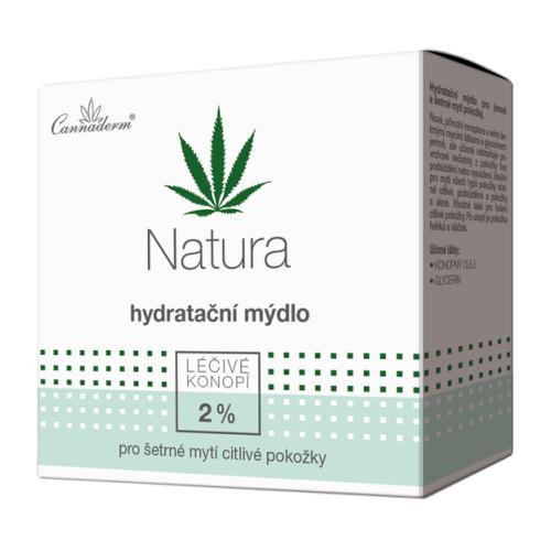 Konopne mydło nawilżające pH 5,5 konopne CANNADERM NATURA