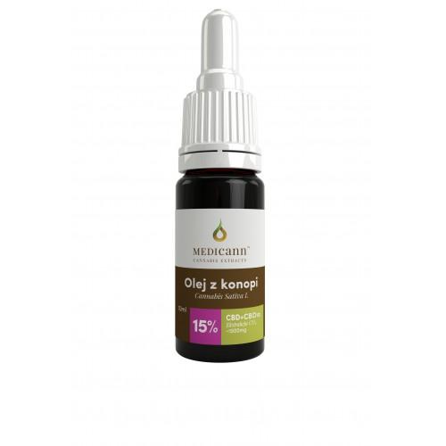 Olej CBD 15% 10ml Medicann (1500 mg CBD i CBDa)