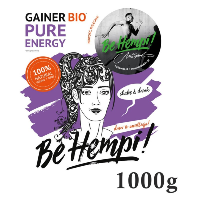 Gainer roślinny 1000g Be Hempi