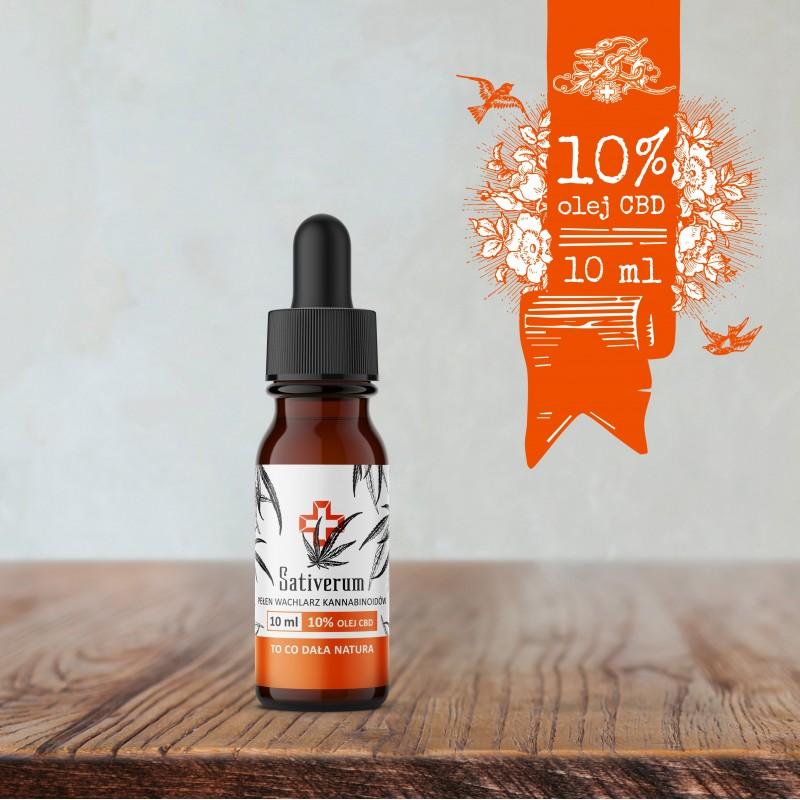 Sativerum olej CBD 10%