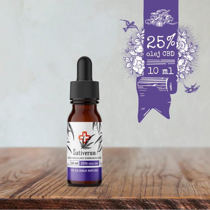 Sativerum olej CBD 25%